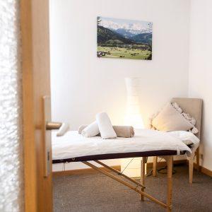 Praxisraum für Massagetherapie